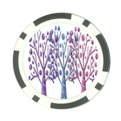 Magical Pastel Trees Poker Chip Card Guards (10 Pack)  by Valentinaart