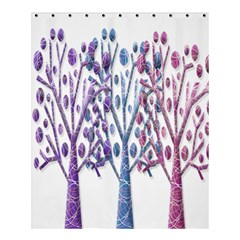 Magical Pastel Trees Shower Curtain 60  X 72  (medium)  by Valentinaart