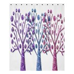 Magical pastel trees Shower Curtain 60  x 72  (Medium)  54.25 x65.71 Curtain
