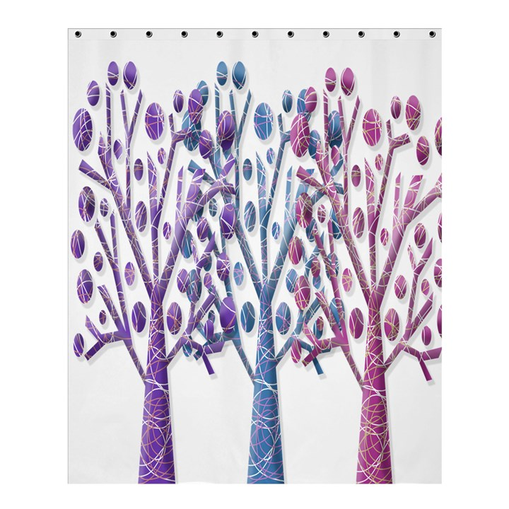 Magical pastel trees Shower Curtain 60  x 72  (Medium)