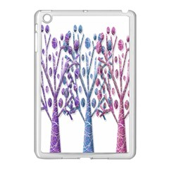 Magical Pastel Trees Apple Ipad Mini Case (white) by Valentinaart