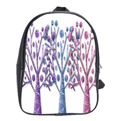 Magical Pastel Trees School Bags (xl)  by Valentinaart