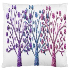 Magical Pastel Trees Large Flano Cushion Case (one Side) by Valentinaart