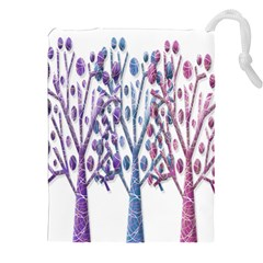 Magical Pastel Trees Drawstring Pouches (xxl)