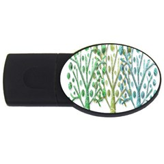 Magical Green Trees Usb Flash Drive Oval (2 Gb)