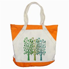 Magical Green Trees Accent Tote Bag by Valentinaart