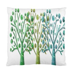 Magical Green Trees Standard Cushion Case (one Side) by Valentinaart