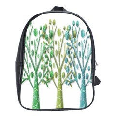Magical Green Trees School Bags(large)  by Valentinaart
