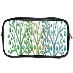 Magical Green Trees Toiletries Bags by Valentinaart