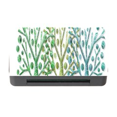 Magical Green Trees Memory Card Reader With Cf by Valentinaart