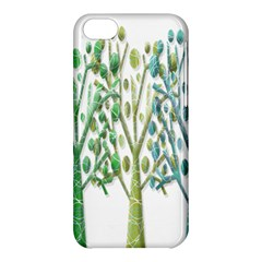 Magical Green Trees Apple Iphone 5c Hardshell Case by Valentinaart