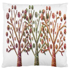 Magical Autumn Trees Large Flano Cushion Case (two Sides) by Valentinaart