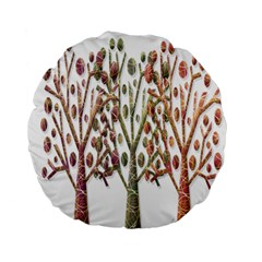 Magical Autumn Trees Standard 15  Premium Flano Round Cushions by Valentinaart