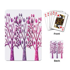Magical Pink Trees Playing Card by Valentinaart