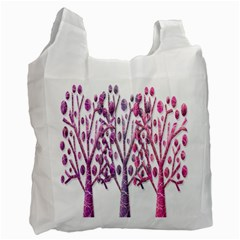 Magical Pink Trees Recycle Bag (one Side) by Valentinaart