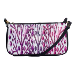 Magical Pink Trees Shoulder Clutch Bags by Valentinaart