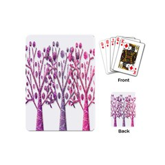 Magical Pink Trees Playing Cards (mini)  by Valentinaart