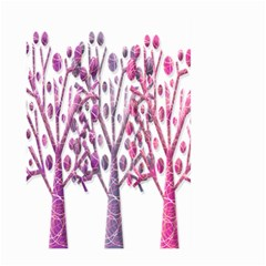 Magical Pink Trees Large Garden Flag (two Sides) by Valentinaart