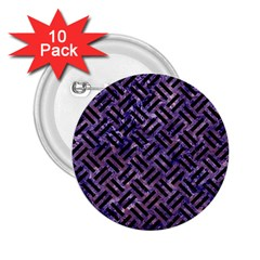Woven2 Black Marble & Purple Marble (r) 2 25  Button (10 Pack) by trendistuff