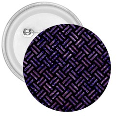 Woven2 Black Marble & Purple Marble 3  Button by trendistuff