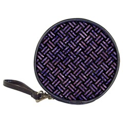 Woven2 Black Marble & Purple Marble Classic 20 Cd Wallet by trendistuff