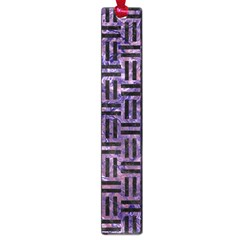 Woven1 Black Marble & Purple Marble (r) Large Book Mark by trendistuff