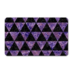 Triangle3 Black Marble & Purple Marble Magnet (rectangular) by trendistuff