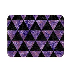 Triangle3 Black Marble & Purple Marble Double Sided Flano Blanket (mini) by trendistuff