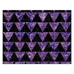 Triangle2 Black Marble & Purple Marble Jigsaw Puzzle (rectangular) by trendistuff