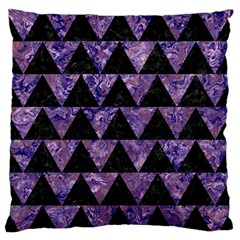 Triangle2 Black Marble & Purple Marble Standard Flano Cushion Case (one Side) by trendistuff