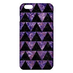 Triangle2 Black Marble & Purple Marble Iphone 6 Plus/6s Plus Tpu Case by trendistuff