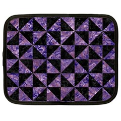 Triangle1 Black Marble & Purple Marble Netbook Case (xl) by trendistuff