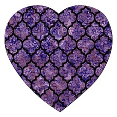 Tile1 Black Marble & Purple Marble (r) Jigsaw Puzzle (heart) by trendistuff