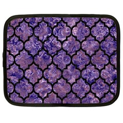 Tile1 Black Marble & Purple Marble (r) Netbook Case (xxl) by trendistuff