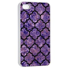 Tile1 Black Marble & Purple Marble (r) Apple Iphone 4/4s Seamless Case (white) by trendistuff