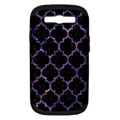 Tile1 Black Marble & Purple Marble Samsung Galaxy S Iii Hardshell Case (pc+silicone) by trendistuff
