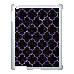 Tile1 Black Marble & Purple Marble Apple Ipad 3/4 Case (white) by trendistuff