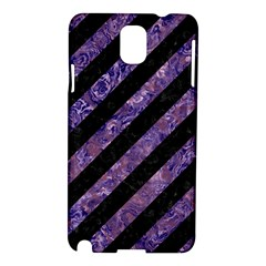 Stripes3 Black Marble & Purple Marble Samsung Galaxy Note 3 N9005 Hardshell Case