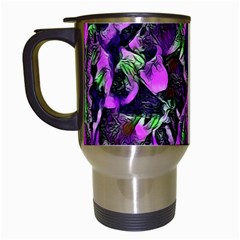 Floral  Fantasy, Pink Travel Mugs (white) by MoreColorsinLife