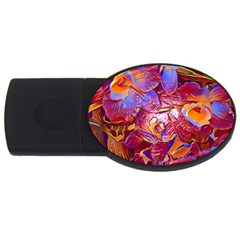 Floral Artstudio 1216 Plastic Flowers Usb Flash Drive Oval (4 Gb)