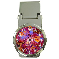 Floral Artstudio 1216 Plastic Flowers Money Clip Watches
