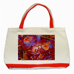 Floral Artstudio 1216 Plastic Flowers Classic Tote Bag (red)