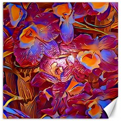 Floral Artstudio 1216 Plastic Flowers Canvas 12  X 12