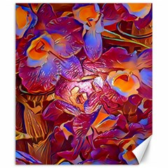 Floral Artstudio 1216 Plastic Flowers Canvas 20  X 24
