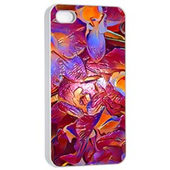 Floral Artstudio 1216 Plastic Flowers Apple Iphone 4/4s Seamless Case (white)