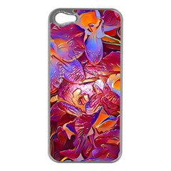 Floral Artstudio 1216 Plastic Flowers Apple Iphone 5 Case (silver)