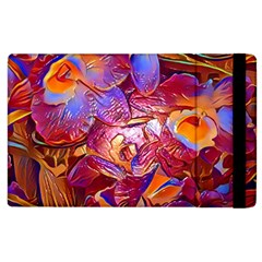 Floral Artstudio 1216 Plastic Flowers Apple Ipad 3/4 Flip Case