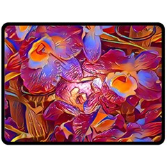 Floral Artstudio 1216 Plastic Flowers Double Sided Fleece Blanket (large)