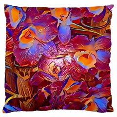 Floral Artstudio 1216 Plastic Flowers Standard Flano Cushion Case (one Side)