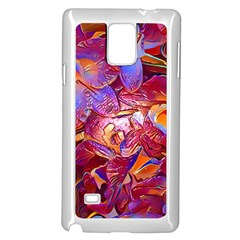 Floral Artstudio 1216 Plastic Flowers Samsung Galaxy Note 4 Case (white)